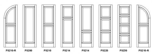 Panel Shutter Styles